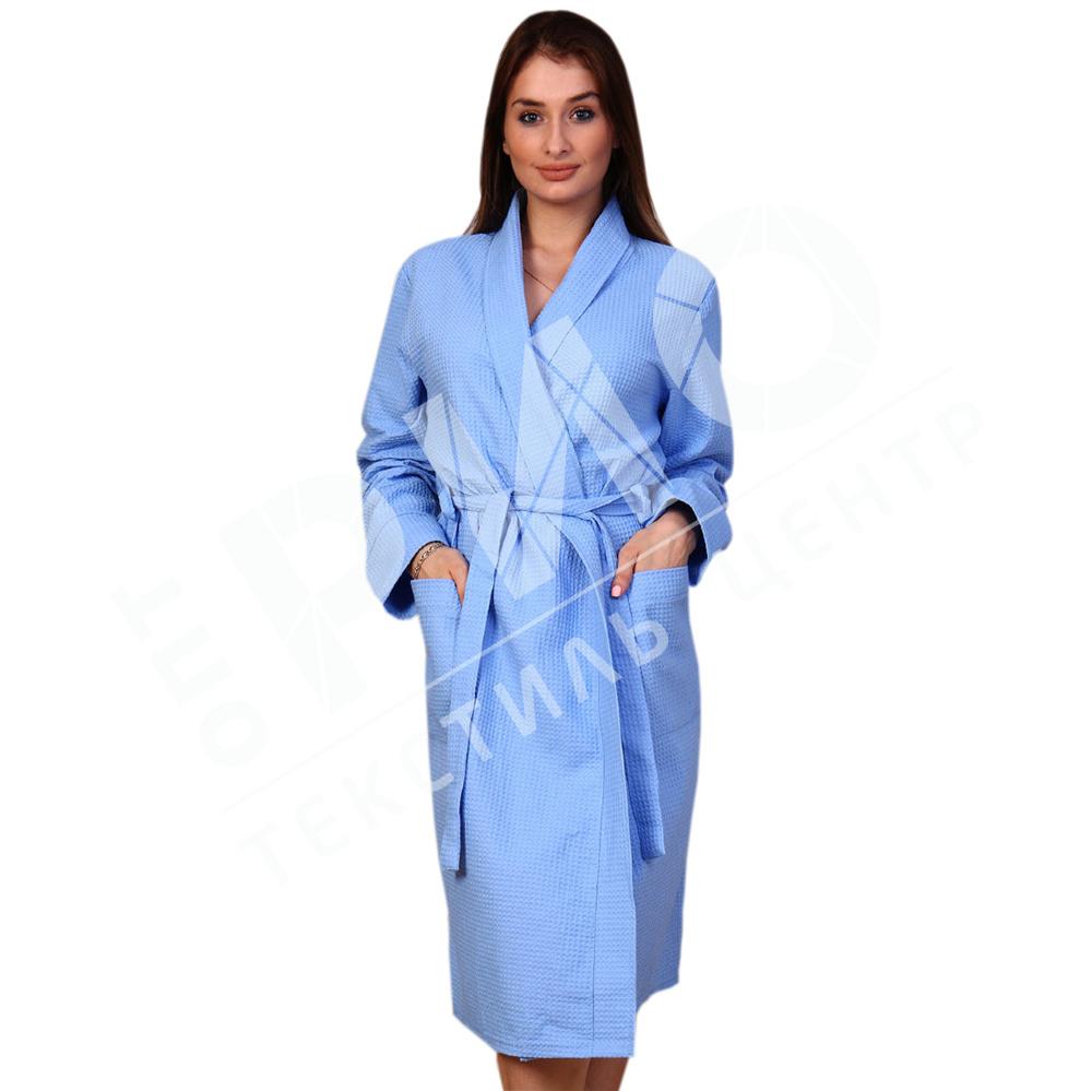 776358918594a Халат вафельный женский воротник шаль (цветной) - купить оптом и в ...